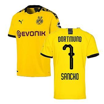 2019-2020 Borussia Dortmund Puma Home Football Shirt (SANCHO 7)