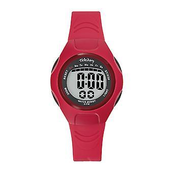 Tekday Watch 654663 - Silicone Red Box Bracelet