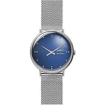 Reloj Skagen SKW6584 - FINN JUHL acero plata dial azul hombres