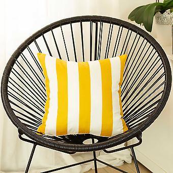 """18 """"x"""" gele strepen geometrische decoratieve gooien kussensloop"""
