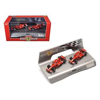 Ferrari F1 F2008 Constructors Champions Kimi Raikkonen & Felipe Massa 1 Of 5000 Made 1/43 Diecast Model Car By Hotwheels