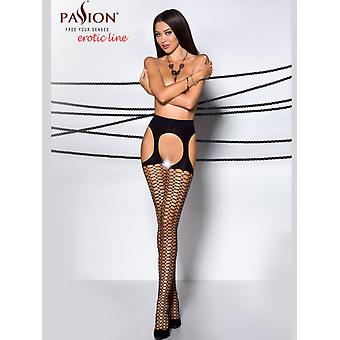 Passion Honeycomb Net Strip Panty Tights
