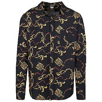 Urban Classics Men's Long Sleeve Shirt Viscose