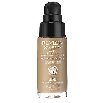 Revlon Colorstay Makeup Combination/Oily Skin - 350 Rich Tan 30ml