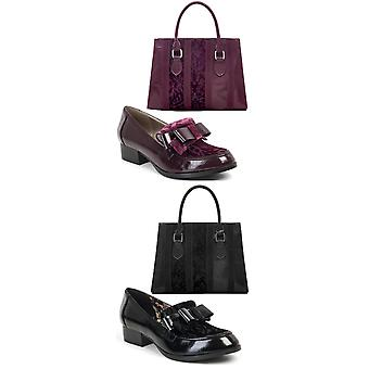 Ruby shoo Women ' s Gabriella loafer pumpar & matchande Panama Bag