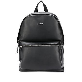 Jimmy Choo Wilmerpkrblack Men's Black Leather Backpack