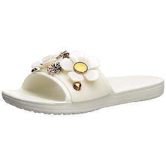 Crocs Women's Sloane Metal Blooms Slide Sandal
