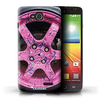 STUFF4 Case/Cover for LG L90 Dual/D410/Pink/Purple/Alloy Wheels