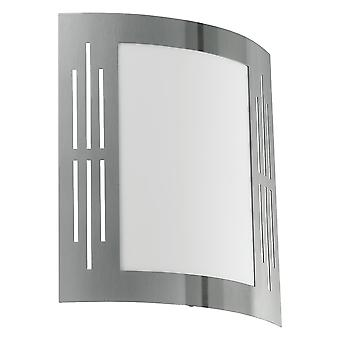 Eglo City - 1 Light Outdoor Flush Wall Light Stainless Steel IP44 - EG82309
