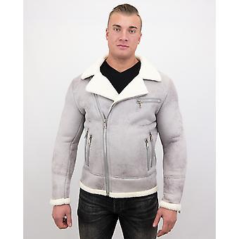 Manteau en fausse fourrure-Lammy Coat-Grey