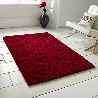 San Valentín alfombras Vl10 hecho a mano lana India en rojo