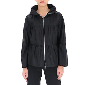 Herno Gi0111d123149300 Women's Black Nylon Outerwear Jacket