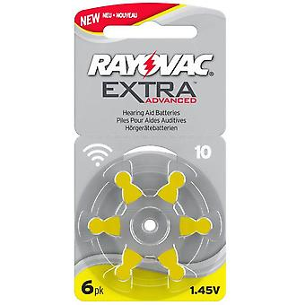 Rayovac Extra Advanced Act 10 Geel, 6-pack