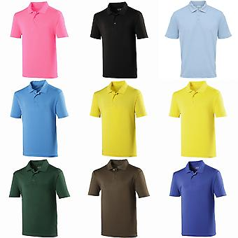 Just Cool Mens Plain Sports Polo Shirt