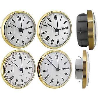 Clock movement quartz insertion insertions roman numerals Ø72mm white dial