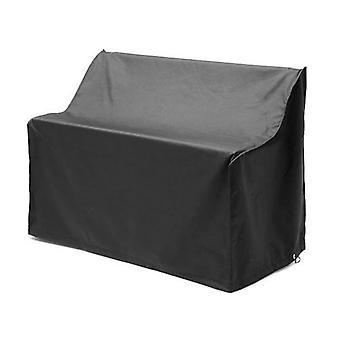 Gardenista schwarz 3 Sitzer Outdoor Garten Bank Abdeckung in Premium Heavy Duty wasserdichte Leinwand. Hergestellt in Großbritannien.