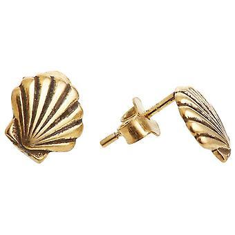 Gemshine Maritim earrings shell stud earrings in 925 silver, gold plated or rose