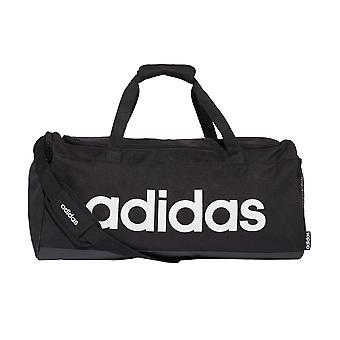 adidas Linear Sports Gym Duffel Holdall Bag Medium Black/White