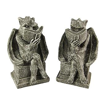 Cool Bookworm Gargoyle Book Ends Bookends Reading