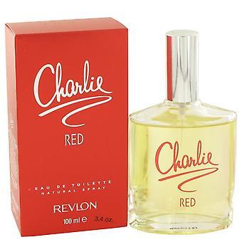 Charlie Red Eau De Toilette Spray door Revlon 3.3 oz Eau De Toilette Spray