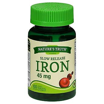 Nature's truth iron, 45 mg, voedingssupplement, tabletten, 60 ea