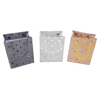 Lahja laukku Glitter 3-pakkaus 13x16 cm