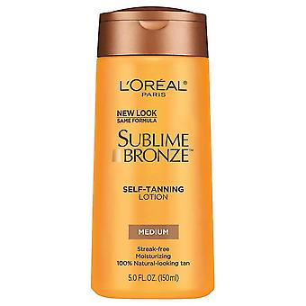 L ' Oreal Paris sublime bronze Self-garvning lotion, medium, 5 oz
