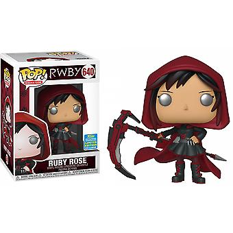 RWBY Ruby Rose with Hood SDCC 2019 US Excl Pop! Vinyl