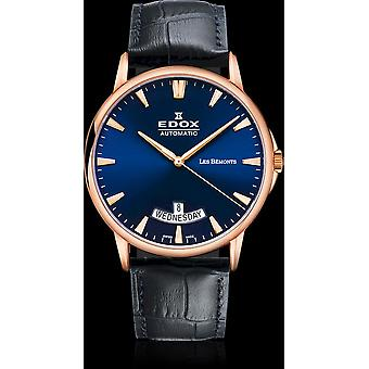 Edox Watches Les Bémonts Men's Watch Day Date 83015 37R BUIR