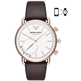 Emporio Armani ART3029 Watch - Connect e Leather Bracelet Brown Case Steel Steel Pink Men