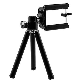 Cat S52 (Black) Adjustable Mini 360° Rotatable Tripod Stand Phone Clip Holder