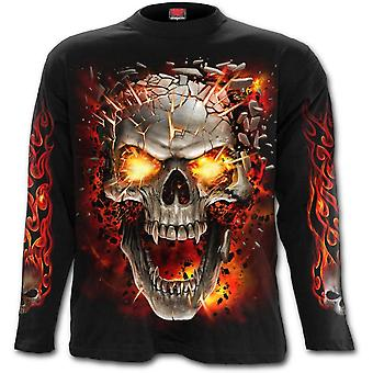 Spirale - Schädel Explosion - Herren Langarm T-shirt, schwarz