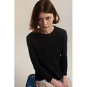 Lindsay Nicholas NY cuello redondo suéter gris