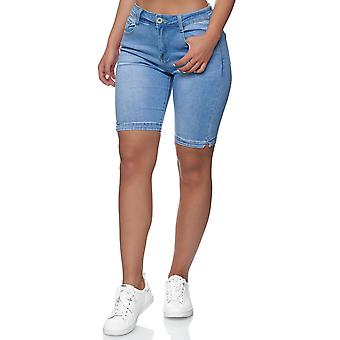 Women's Big Size Jeans Shorts Casual Summer Pants Turned oversize Bermuda