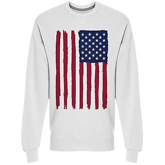 A Grunge, Usa Flag Sweatshirt Men's -Image by Shutterstock