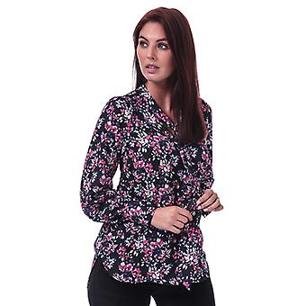 Women's French Connection Linosa Crepe Light Floral Blouse in Blue