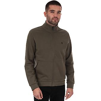 Men's Timberland Big Brand Funnel Sweat in Green