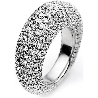 Diamond ring 750/white gold 6.32 ct.