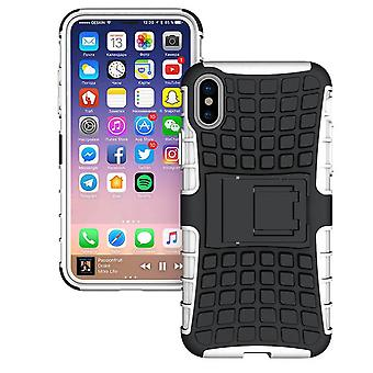 Schokbestendige Hard Heavy Stand Armour Case Cover Apple iPhone 10 X 8 7 6s Se 5