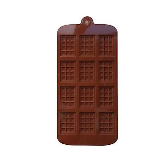 12 Mini Muffin Rectangular Silicone Waffle Baking Mold Biscuit Box - Used As Pudding Mold Baking