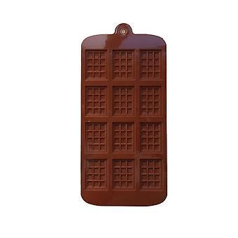 12 Mini Muffin rechteckige Silikon Waffel Backen Form Keks-Box - als Pudding Form Backen verwendet