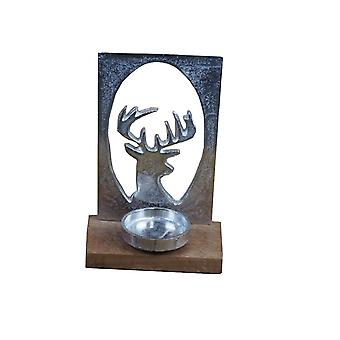 Stag Head Silhouette Tealight Holder