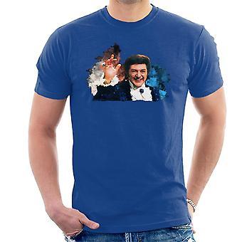 TV ganger sangeren Liberace maling Splatter menn t-skjorte