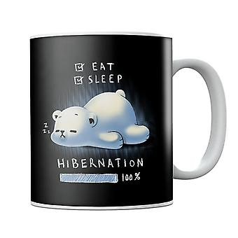 Cute Polar Bear Hibernation Mug