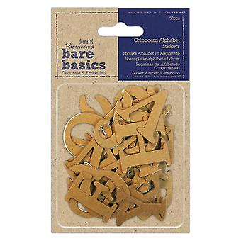 Papermania Chipboard Alphabet Pegatinas