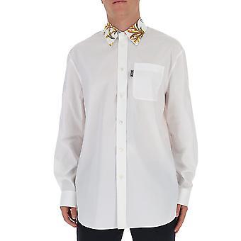 Versace A87411a232105a1001 Män's vit bomullsskjorta