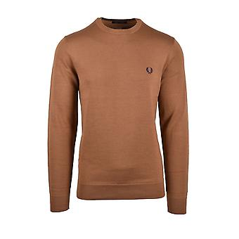 Fred Perry Classic Crew Neck Knitwear Caramel