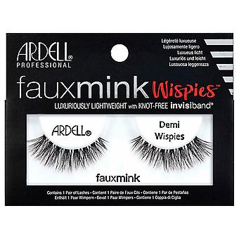 Ardell Faux Mink Eyelashes - Black Demi Wispies with Knot Free Invisiband