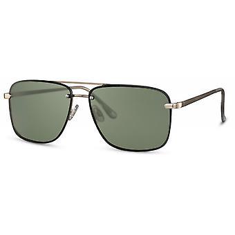النظارات الشمسية الرجال مستطيلة الرجال كات. 3 الذهب / الأخضر