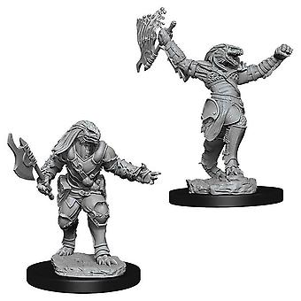 D&D Nolzur Marv Nonuptened Minis Female Dragonborn Fighter